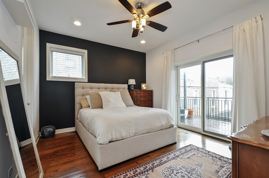 Real Estate Photography - 1542 N Artesian, 2, Chicago, IL, 60622 - Master Bedroom