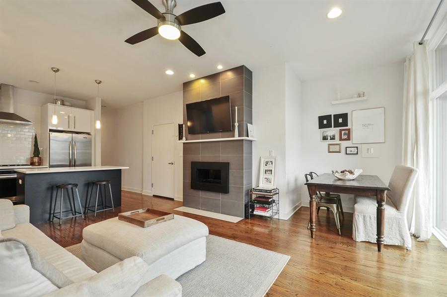 Real Estate Photography - 1542 N Artesian, 2, Chicago, IL, 60622 - Living Room / Dining Room