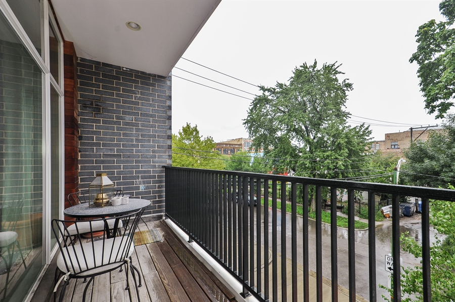Real Estate Photography - 1542 N Artesian, 2, Chicago, IL, 60622 - Balcony