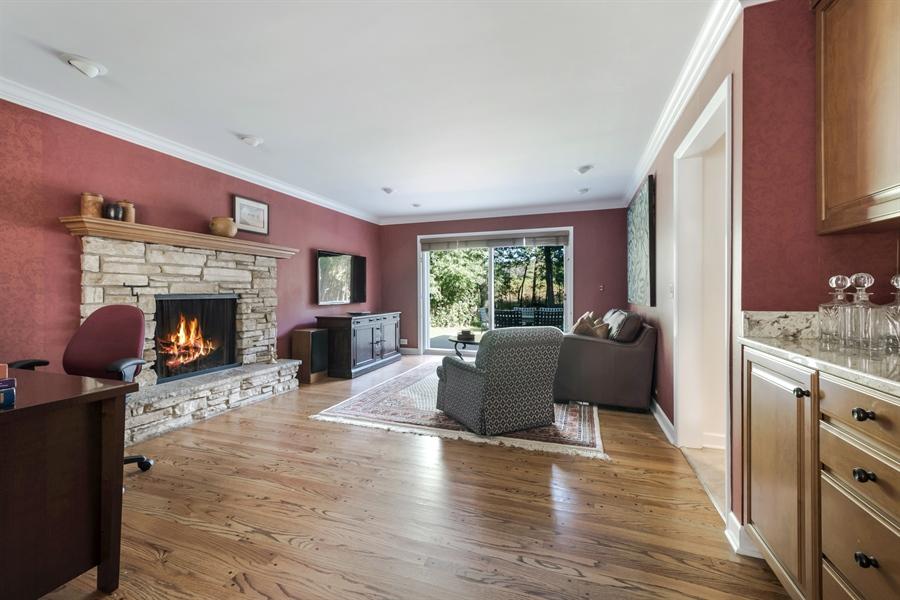 Real Estate Photography - 423 Northwood, Glencoe, IL, 60022 - Family Room 2