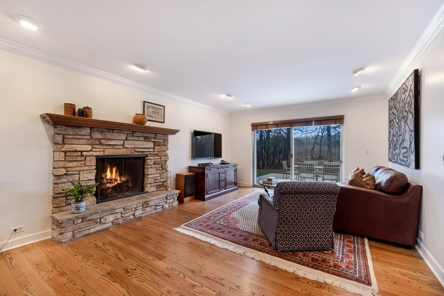Real Estate Photography - 423 Northwood, Glencoe, IL, 60022 - Family Room