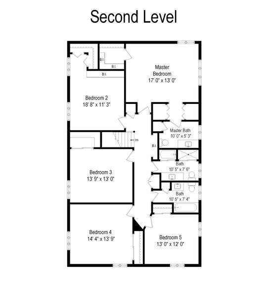 Real Estate Photography - 423 Northwood, Glencoe, IL, 60022 - Second Floor