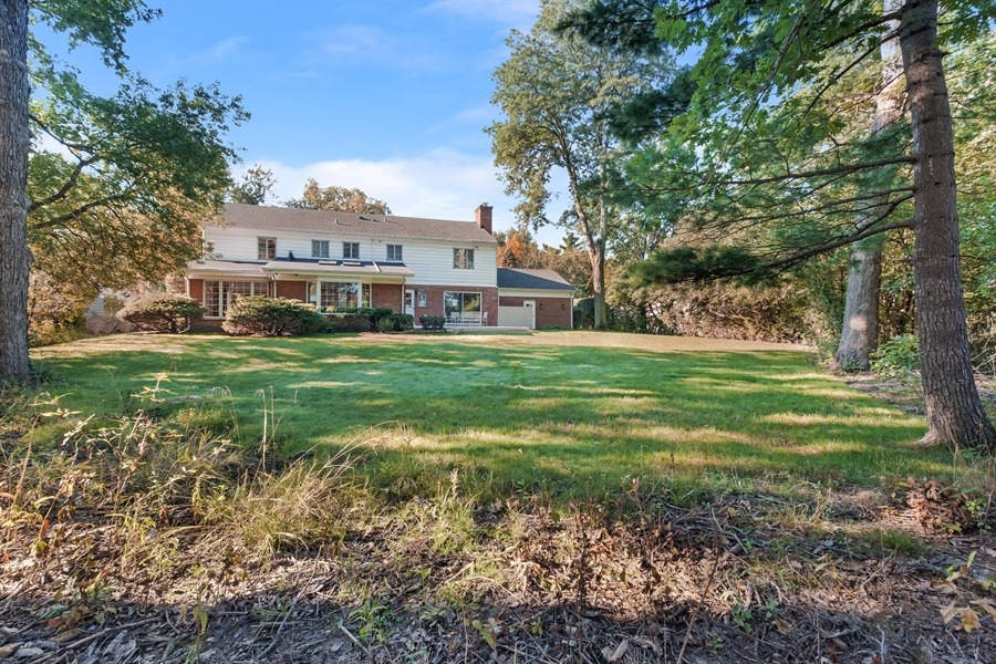 Real Estate Photography - 423 Northwood, Glencoe, IL, 60022 - Rear View