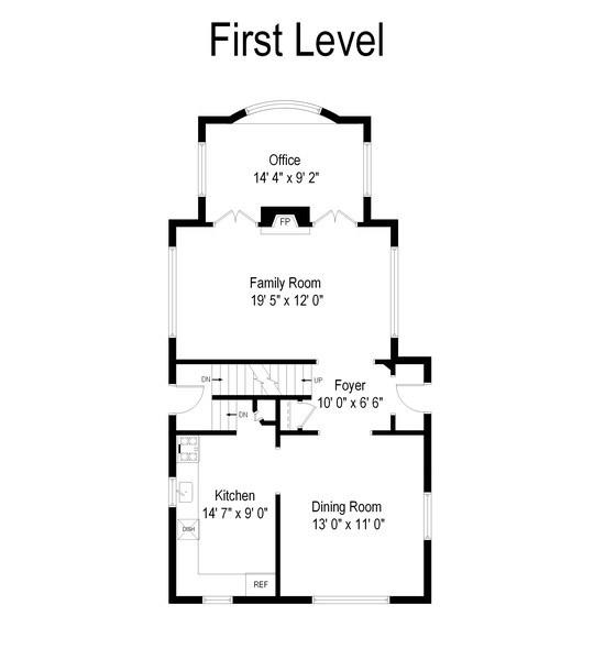 Real Estate Photography - 196 E. St Charles, Elmhurst, IL, 60126 - Floor Plan