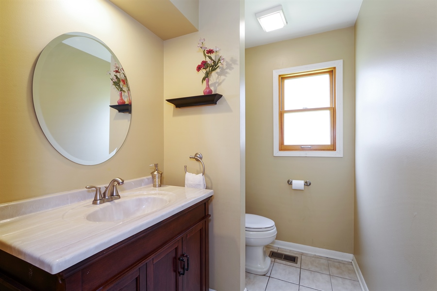 Real Estate Photography - 520 Newtown, Buffalo Grove, IL, 60089 - Powder Room