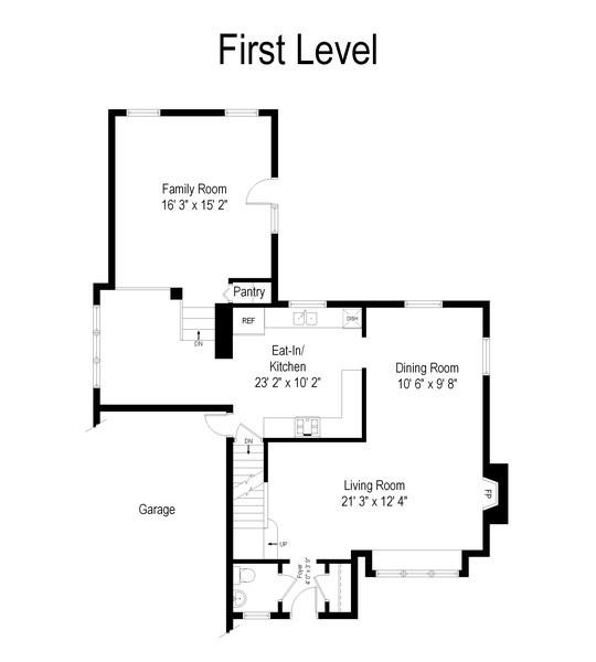 Real Estate Photography - 507 N Douglas Ave, Arlington Heights, IL, 60004 - Floor Plan