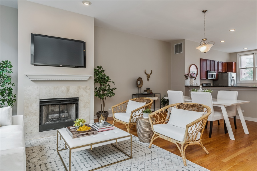 Real Estate Photography - 2314 W Wolfram, Chicago, IL, 60618 - Living Room