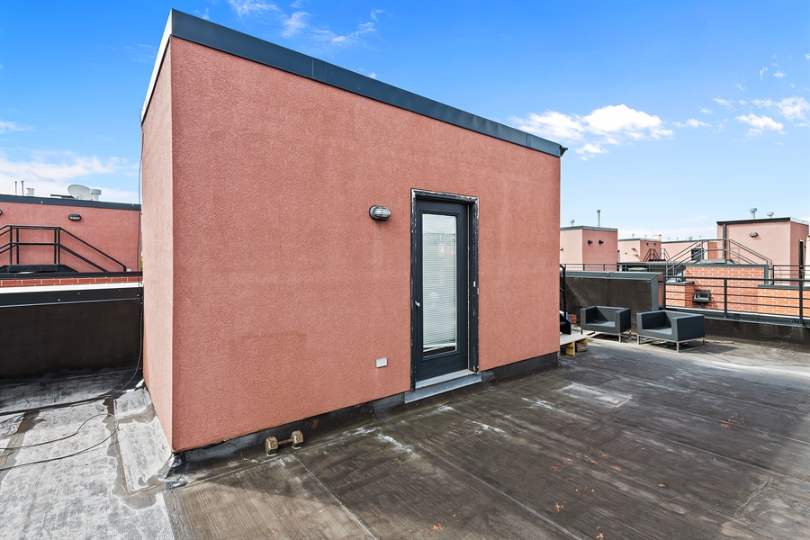 Real Estate Photography - 2314 W Wolfram, Chicago, IL, 60618 - Roof