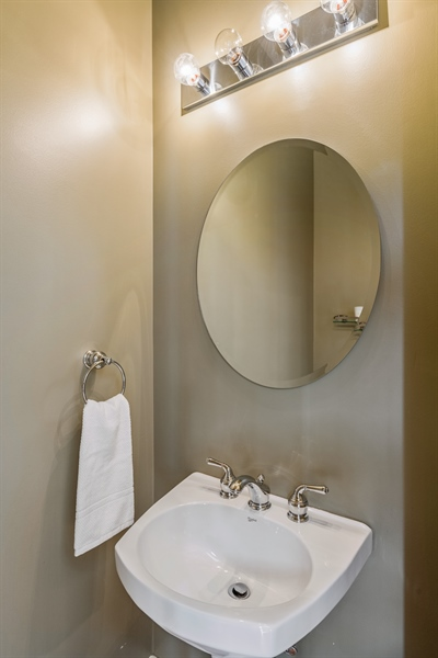 Real Estate Photography - 2314 W Wolfram, Chicago, IL, 60618 - Powder Room