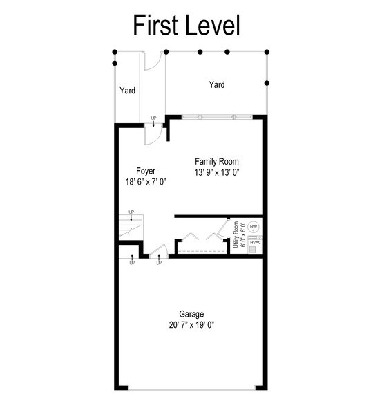 Real Estate Photography - 2314 W Wolfram, Chicago, IL, 60618 - Floor Plan