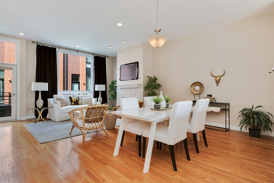 Real Estate Photography - 2314 W Wolfram, Chicago, IL, 60618 - Living Room / Dining Room