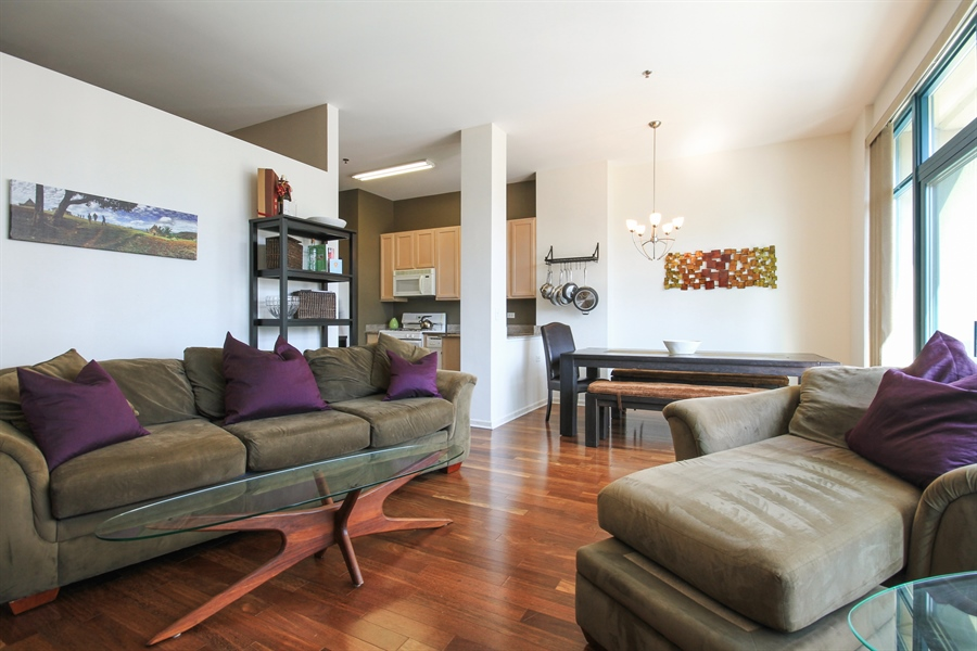 Real Estate Photography - 340 W Superior, unit 1602, Chicago, IL, 60654 - Living Room
