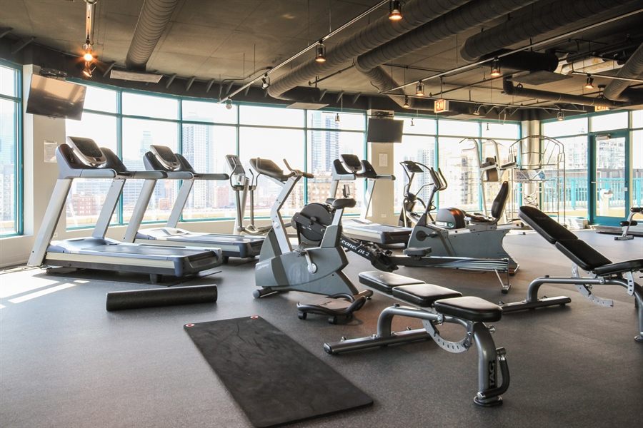 Real Estate Photography - 340 W Superior, unit 1602, Chicago, IL, 60654 - Gym
