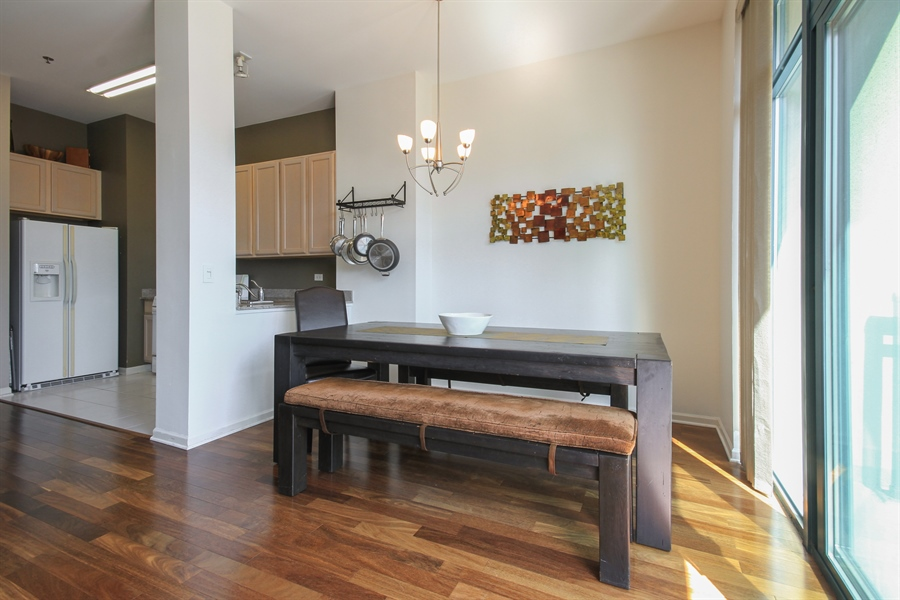 Real Estate Photography - 340 W Superior, unit 1602, Chicago, IL, 60654 - Dining Room