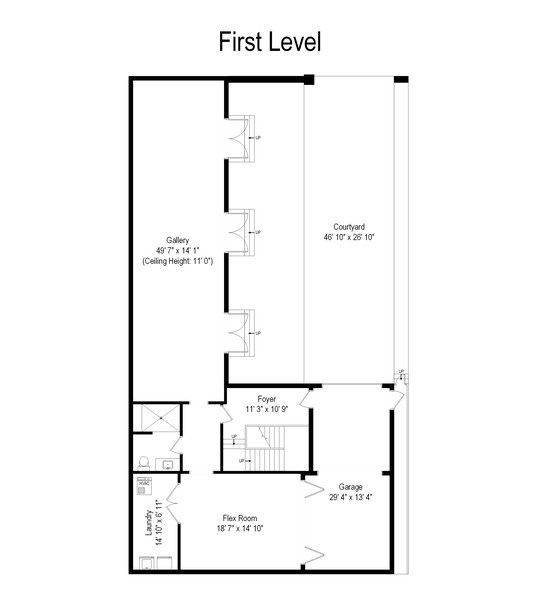 Real Estate Photography - 1684 N Ada St, Chicago, IL, 60642 - Floor Plan