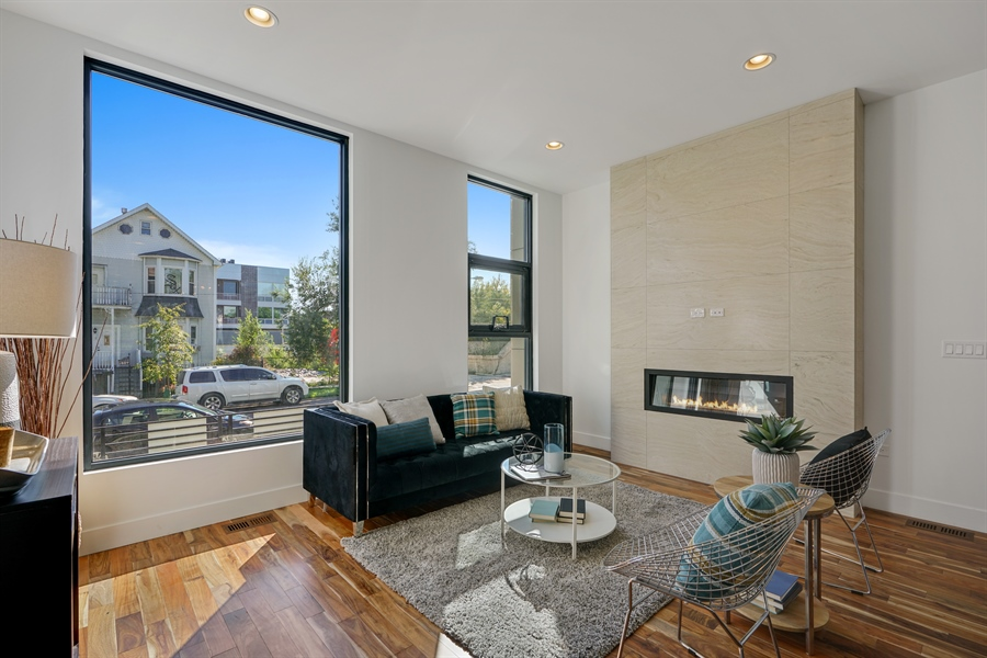 Real Estate Photography - 1806 N Mozart, Chicago, IL, 60647 - Living Room