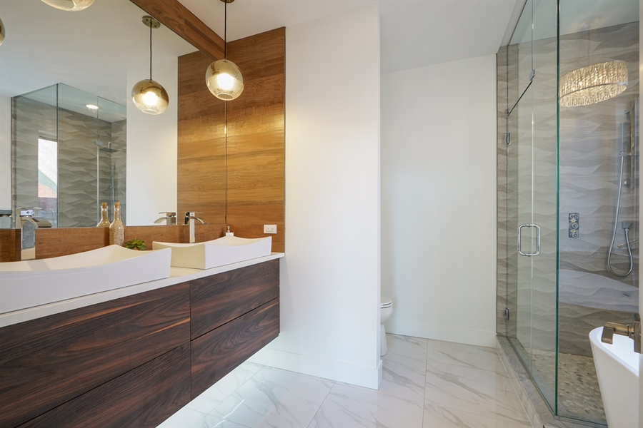 Real Estate Photography - 1806 N Mozart, Chicago, IL, 60647 - Master Bathroom