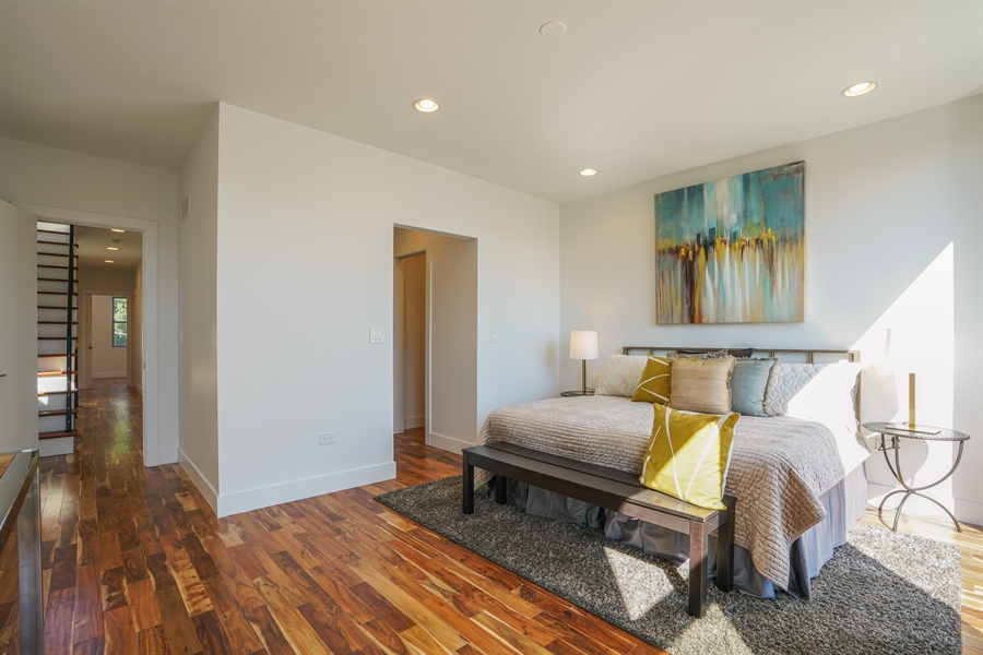 Real Estate Photography - 1806 N Mozart, Chicago, IL, 60647 - Master Bedroom