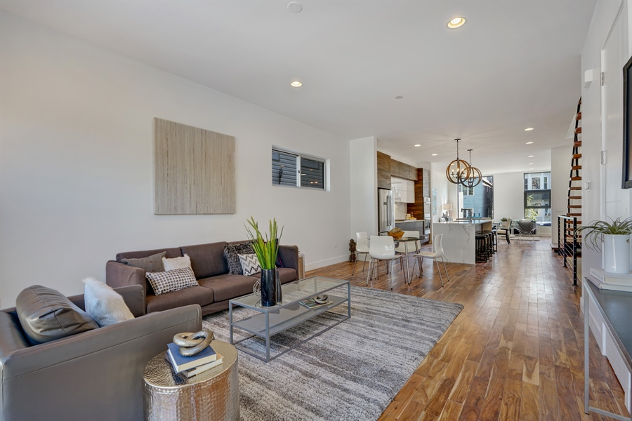 Real Estate Photography - 1806 N Mozart, Chicago, IL, 60647 - Family Room