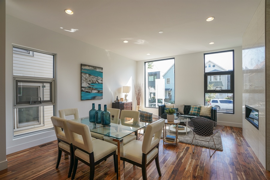 Real Estate Photography - 1806 N Mozart, Chicago, IL, 60647 - Living Room / Dining Room