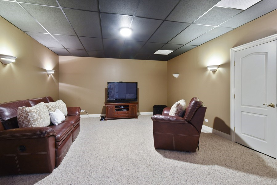 Real Estate Photography - 20580 W High Ridge Drive, Kildeer, IL, 60047 - Media Room