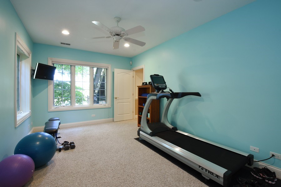 Real Estate Photography - 20580 W High Ridge Drive, Kildeer, IL, 60047 - Fitness Room