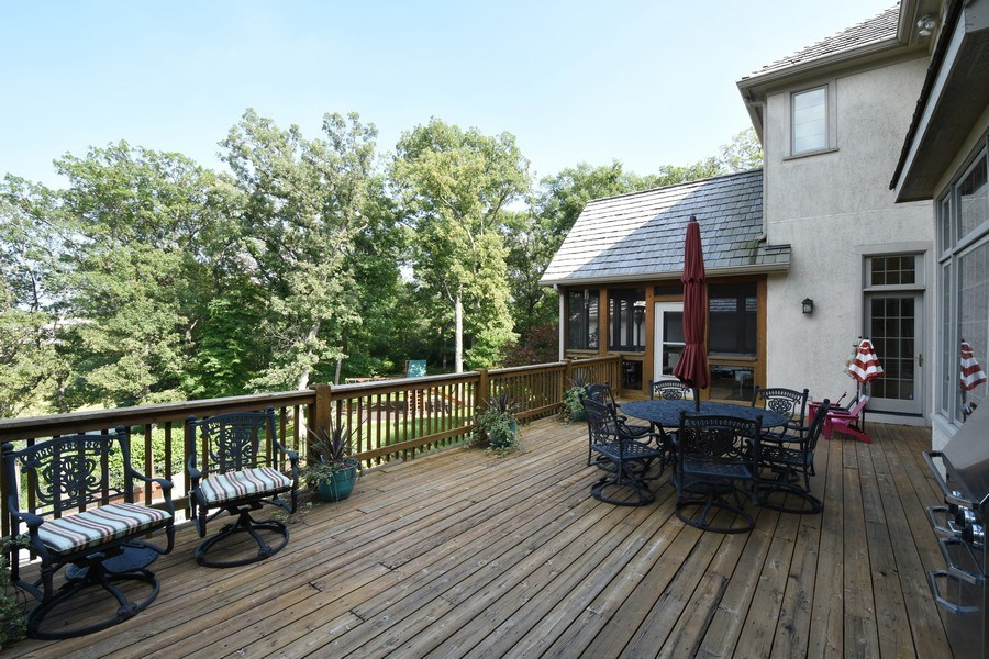 Real Estate Photography - 20580 W High Ridge Drive, Kildeer, IL, 60047 - Deck