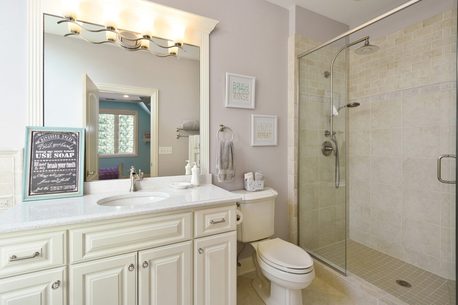 Real Estate Photography - 20580 W High Ridge Drive, Kildeer, IL, 60047 - 2nd Bathroom