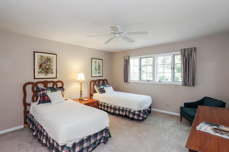 Real Estate Photography - 2 Warrington Drive, Lake Bluff, IL, 60044 - 2nd Bedroom