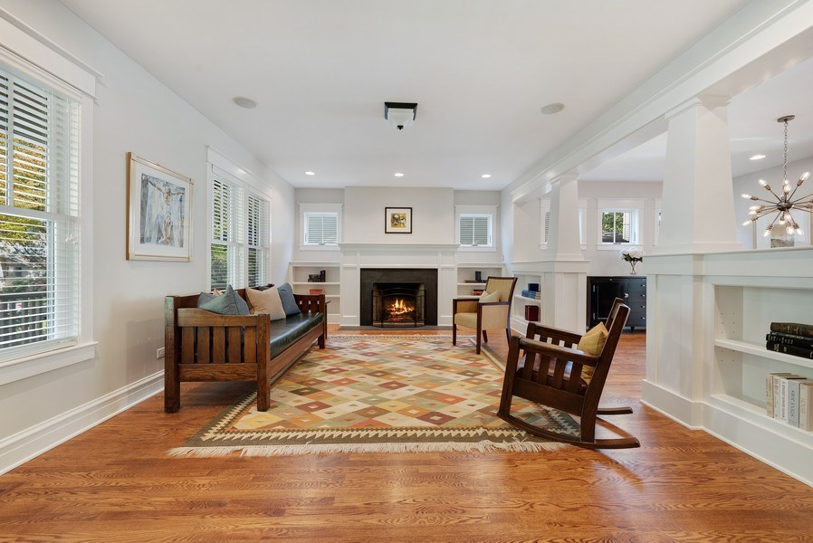 Real Estate Photography - 1623 Washington Ave, Wilmette, IL, 60091 - Living Room