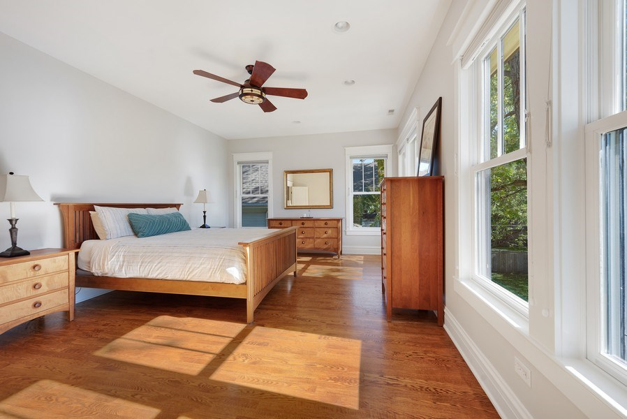 Real Estate Photography - 1623 Washington Ave, Wilmette, IL, 60091 - Master Bedroom