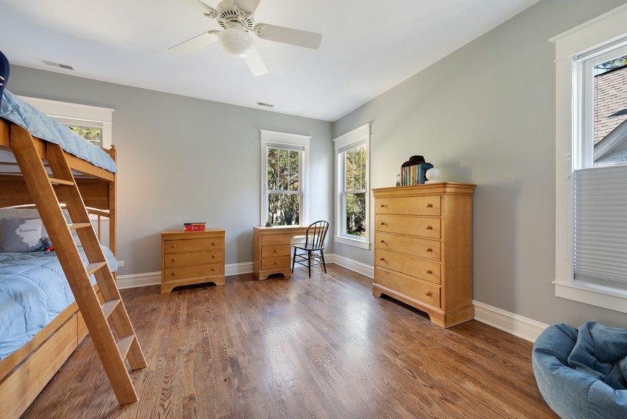 Real Estate Photography - 1623 Washington Ave, Wilmette, IL, 60091 - 2nd Bedroom