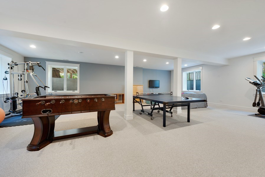 Real Estate Photography - 1623 Washington Ave, Wilmette, IL, 60091 - Recreational Room
