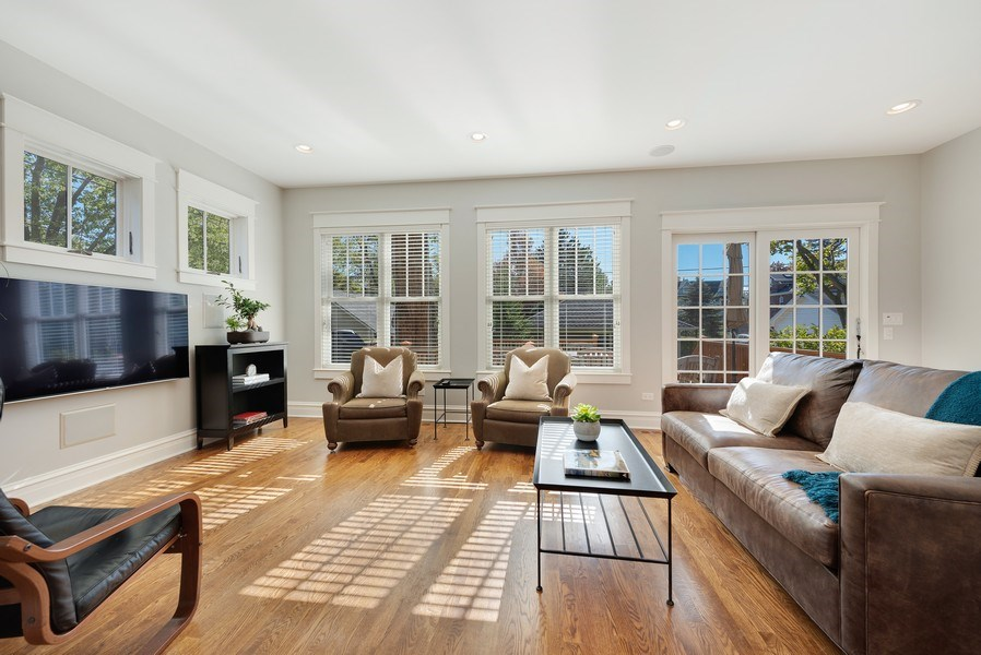 Real Estate Photography - 1623 Washington Ave, Wilmette, IL, 60091 - Family Room
