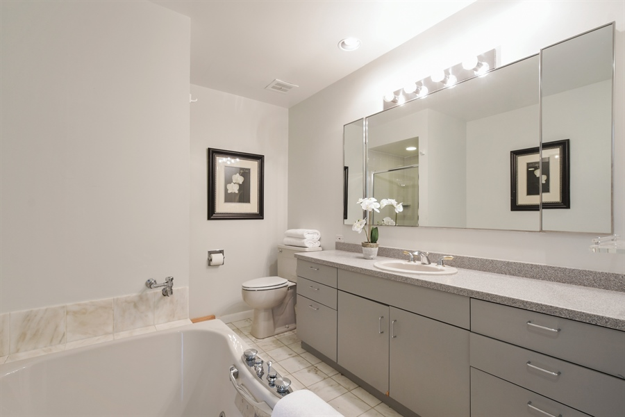 Real Estate Photography - 383 Seven Pines, Highland Park, IL, 60035 - Master Bathroom