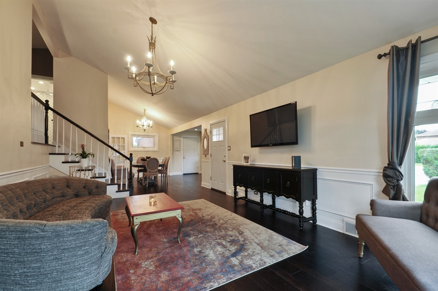 Real Estate Photography - 7200 Lyons St, Morton Grove, IL, 60053 - Living Room / Dining Room