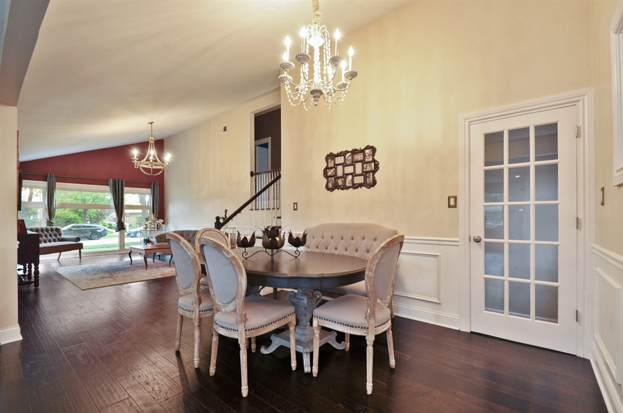 Real Estate Photography - 7200 Lyons St, Morton Grove, IL, 60053 - Living Room/Dining Room