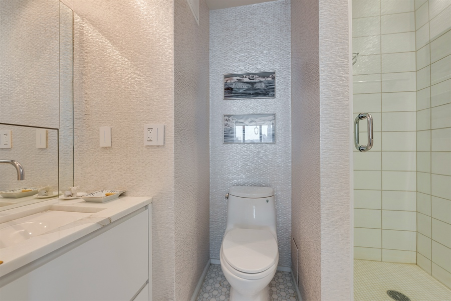 Real Estate Photography - 505 N. Lake Shore Drive, 6010, Chicago, IL, 60611 - Foyer/3rd Bathroom