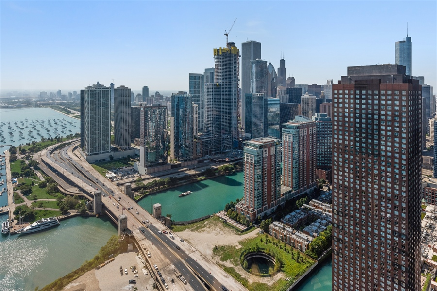 Real Estate Photography - 505 N. Lake Shore Drive, 6010, Chicago, IL, 60611 - City View