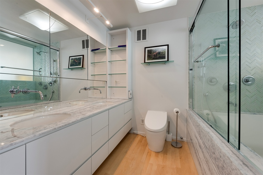 Real Estate Photography - 505 N. Lake Shore Drive, 6010, Chicago, IL, 60611 - Master Bathroom
