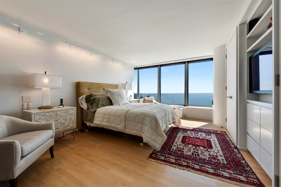 Real Estate Photography - 505 N. Lake Shore Drive, 6010, Chicago, IL, 60611 - Master Bedroom