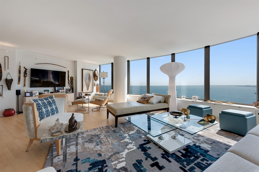 Real Estate Photography - 505 N. Lake Shore Drive, 6010, Chicago, IL, 60611 - Living Room