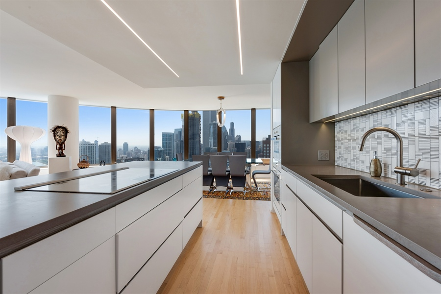 Real Estate Photography - 505 N. Lake Shore Drive, 6010, Chicago, IL, 60611 - Kitchen