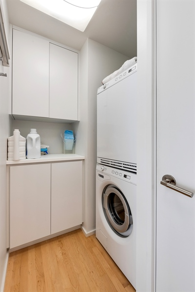 Real Estate Photography - 505 N. Lake Shore Drive, 6010, Chicago, IL, 60611 - Laundry Room