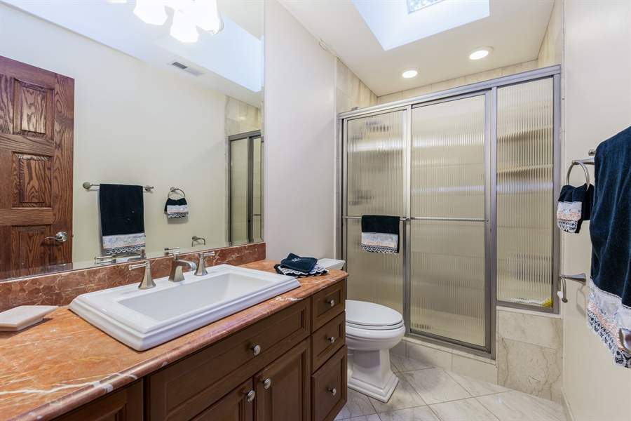 Real Estate Photography - 9681 Elms Terr, Des Plaines, IL, 60016 - 3rd Bathroom