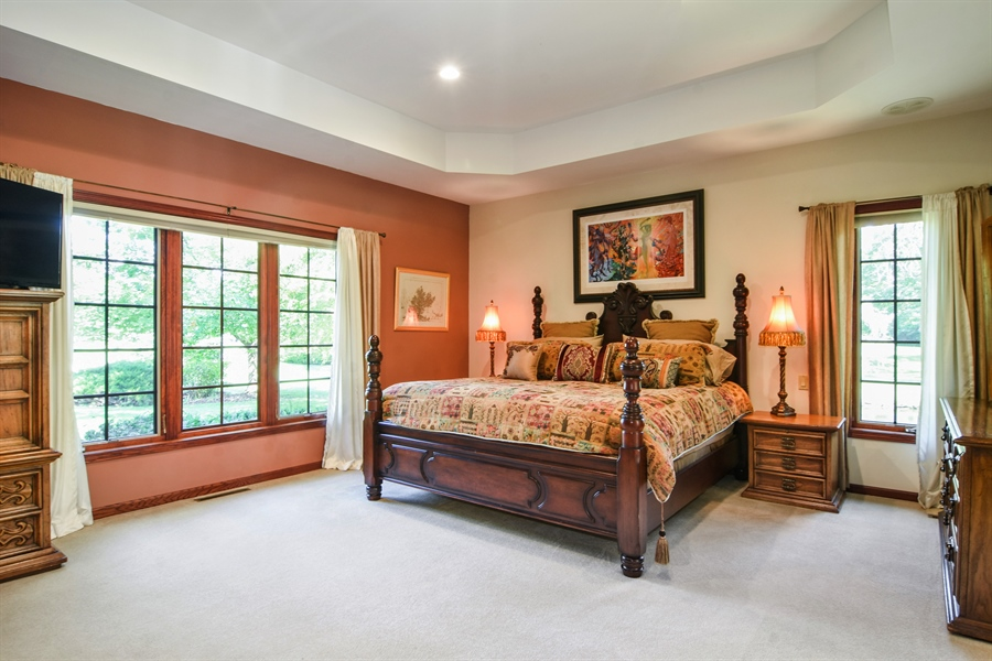 Real Estate Photography - 26541 Pond Shore, Wauconda, IL, 60084 - 1st Floor Master Bedroom