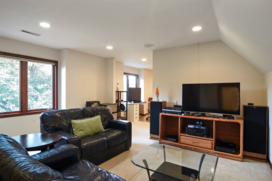 Real Estate Photography - 26541 Pond Shore, Wauconda, IL, 60084 - Bedroom 3 Sitting Room