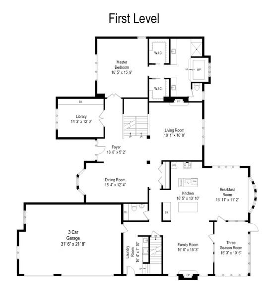 Real Estate Photography - 26541 Pond Shore, Wauconda, IL, 60084 - Floor Plan