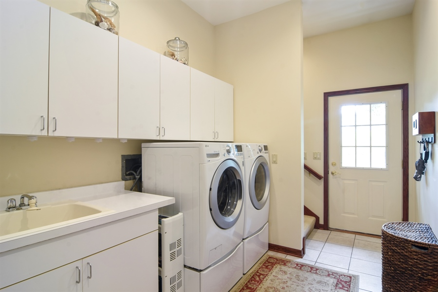 Real Estate Photography - 26541 Pond Shore, Wauconda, IL, 60084 - 1st Floor Laundry Room
