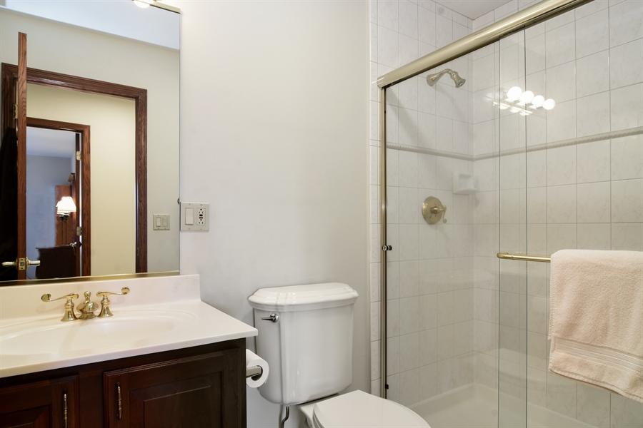 Real Estate Photography - 26541 Pond Shore, Wauconda, IL, 60084 - Hall Bathroom